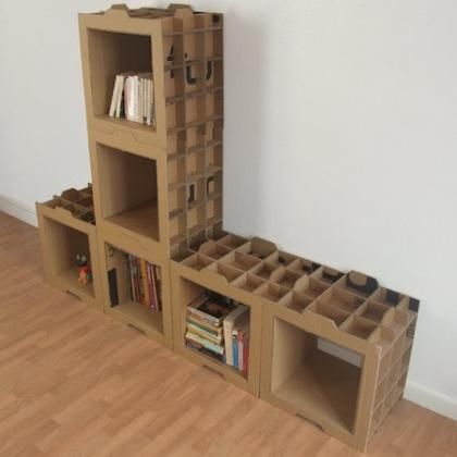 Estanteria de carton (http://www.danygilles.com/mobilier.html)