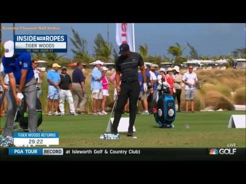 2016 Hero~Tiger Woods Warm Up Session~ - YouTube