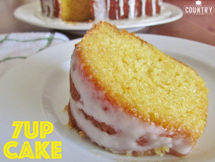 This 7Up Cake is like sunshine on a plate. A moist and delicious lemon-y cake with the most amazing icing drizzled on top. SO good!