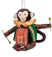 """RK-739 Кукла подвесная """"Обезьяна с барабаном""""  скульптура обезьяна символ года 2016 новогодние подарки на новый год сувениры фигурка обезьянка новогодняя купить"""