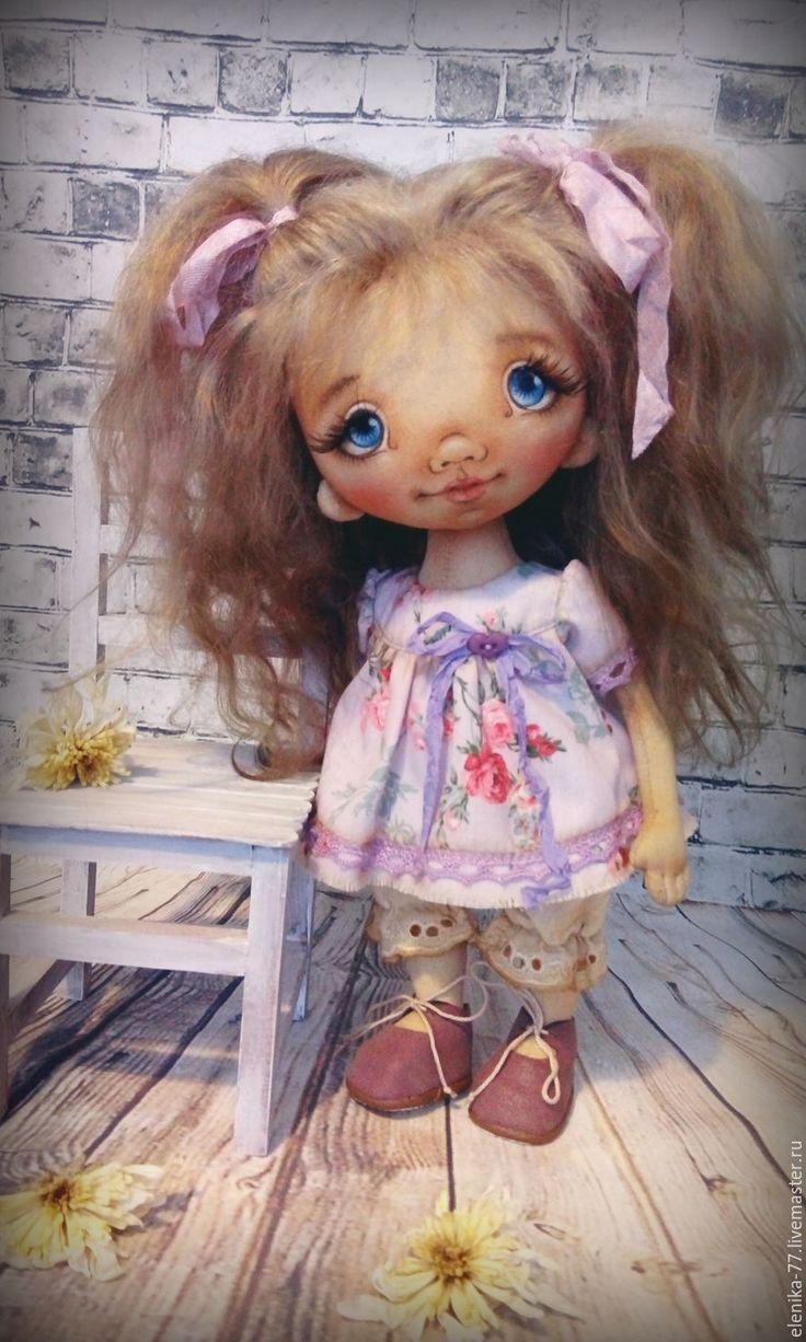 Купить Марьянка. Текстильная кукла. - бледно-сиреневый, кукла ручной работы, кукла, кукла в подарок