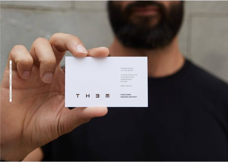 Logo design for British  TH3M Architects.  Designed by Bull-Stark Oslo.  Simple style Stationary / business cards.