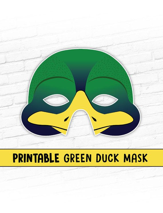 This listing is for a GREEN MALLARD DUCK Printable Mask. You will receive high resolution PDF files that you can print your own paper masks from at home.  Great for Easter plays or spring playtime!  PLEASE be sure the mask you are purchasing is the one you want. Due to the nature of Instant Download, you will have access to the files as soon as you check out, so you can not change your mind and request different files. Thanks for your understanding.  Cute creatures are always in style for…