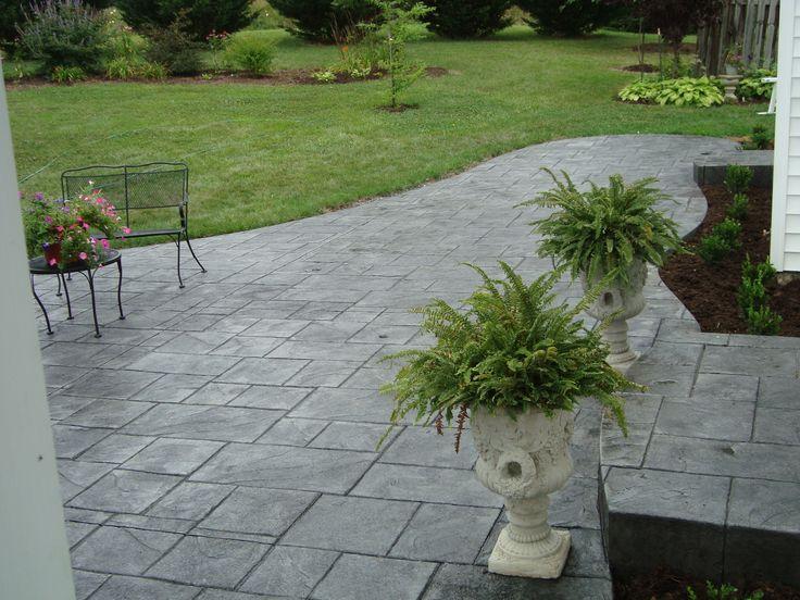 Lanai Paver Stamped Concrete Larger Tile Pattern In