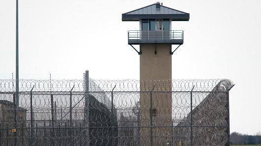 Prison walls and lookout tower