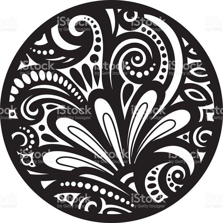 Vetor de belas déco preto Mandala vetor e ilustração royalty-free royalty-free