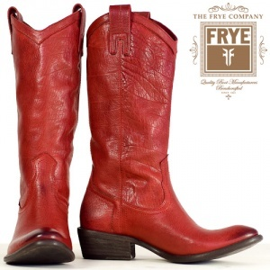 Red Cowboy Boots by Frye