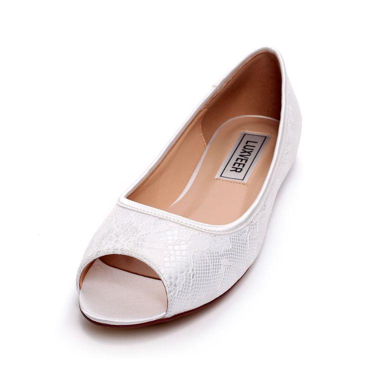 Leather Ivory Shoes Wedding Crystal Bridal Shoes Elegant ...