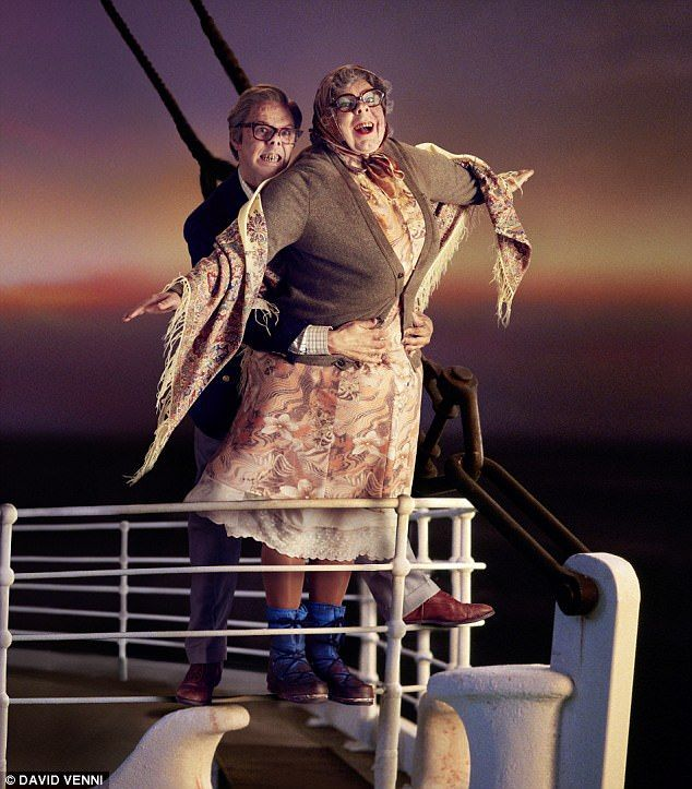 I'm flying! The cast of League of Gentlemen celebrated their return to Royston Vasey by recreating iconic films scenes in their typically outlandish style, with Tubbs and Edward (Steve Pemberton and Reece Shearsmith) depicting that moment from Titanic