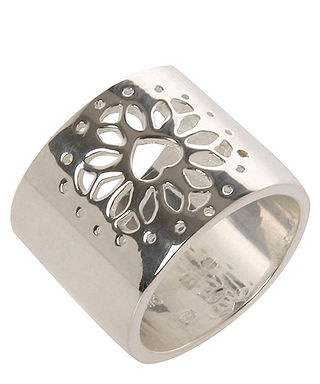 Clio Blue, Floral Design Ring in Silver, Secretsales