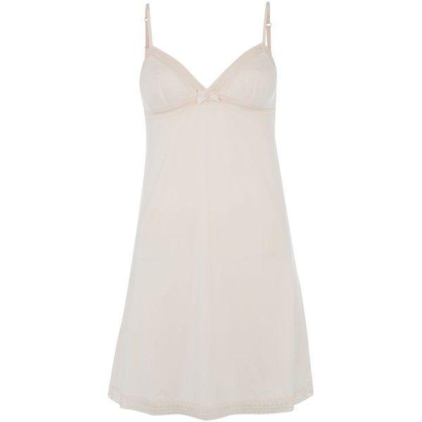 Princesse Tam Tam Beaute combinette chemise ($51) ❤ liked on Polyvore featuring intimates, chemises, pink, sale, pink slips, princesse tam.tam and pink chemise