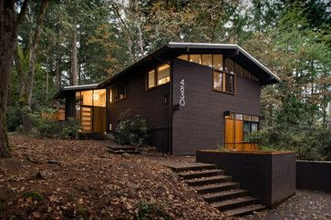 Dark wood house. Mid-Century Remodel - modern - exterior - portland - 2fORM Architecture