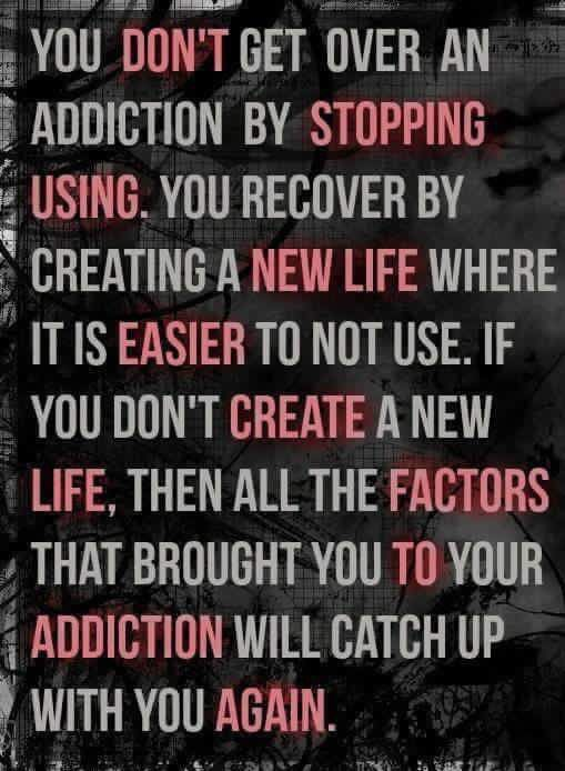 25 Addiction Recovery Tips and Quotes Addiction is not the action of repetition and compulsion... it is much more than that. So much more.