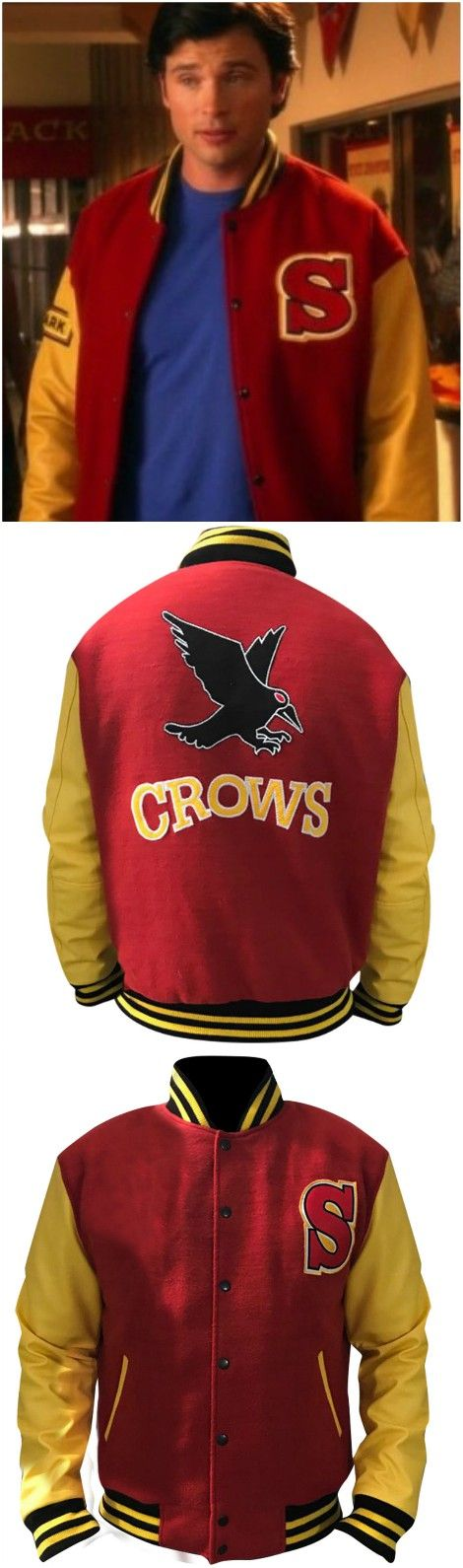 Small Ville Crows Superman Clark Letterman Jacket now available in our online store. Shop now and avail the Discounted price.  #celebrity #celebs #fashions #fashion #hfafashion #superman #clarkkent #fashionblogger