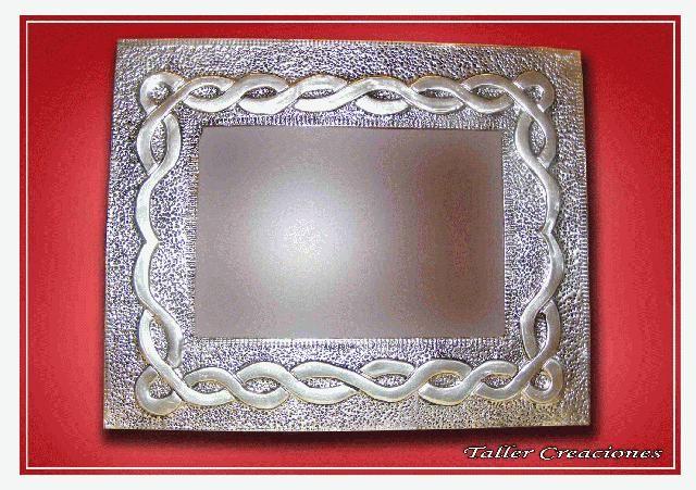 Fotos Portaretrato, Repujado en Aluminio