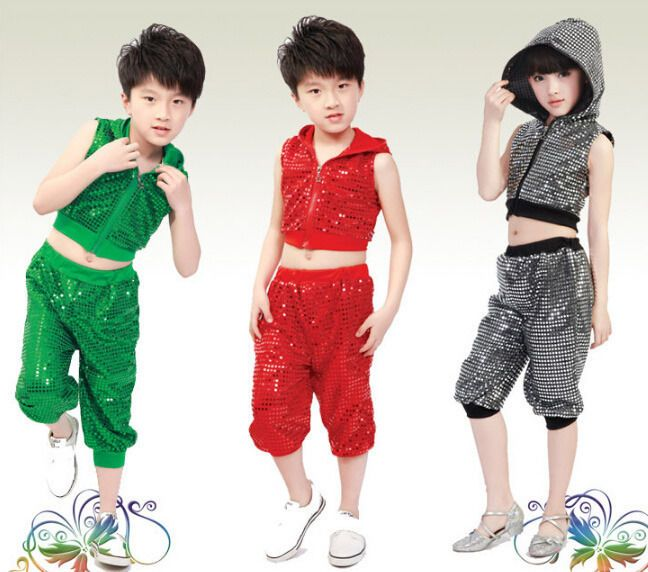 Bright Girls Boys Modern Jazz Hip Hop Dance Costumes Kids Dancewear Top&Pant    eBay