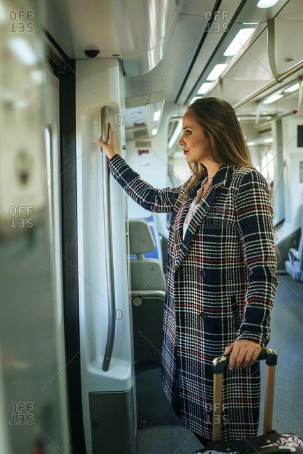 Woman in a train