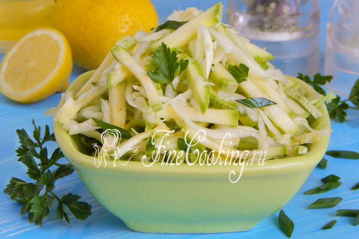 Салат из капусты с кабачком - рецепт с фото