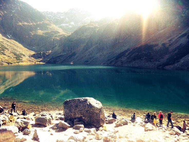 Black Lake below Mount Rysy