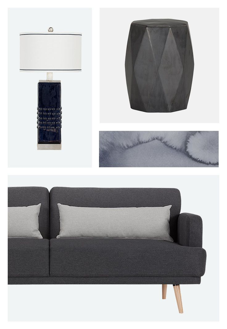 Go bold for the new year! Add some statement pieces to your home like an elegant table lamp, a sleek stool, abstract wall art, or clean and mid-century modern futon. #LiveLikeThis