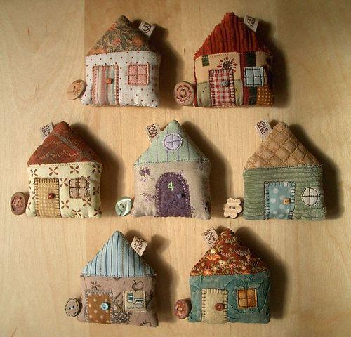 fabric houses cute