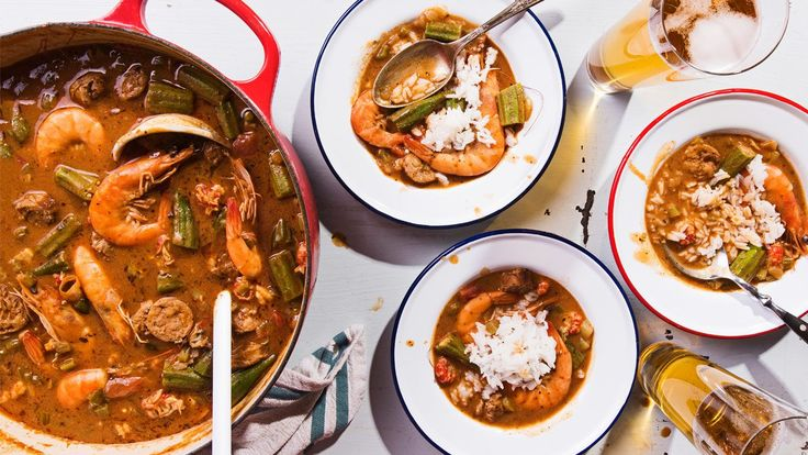 Seafood and Sausage Gumbo This Cajun stew is packed with four types of seafood