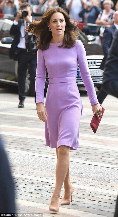 Royal watchers were quick to spot that Kate's dress was Emilia Wickstead - with similar st...