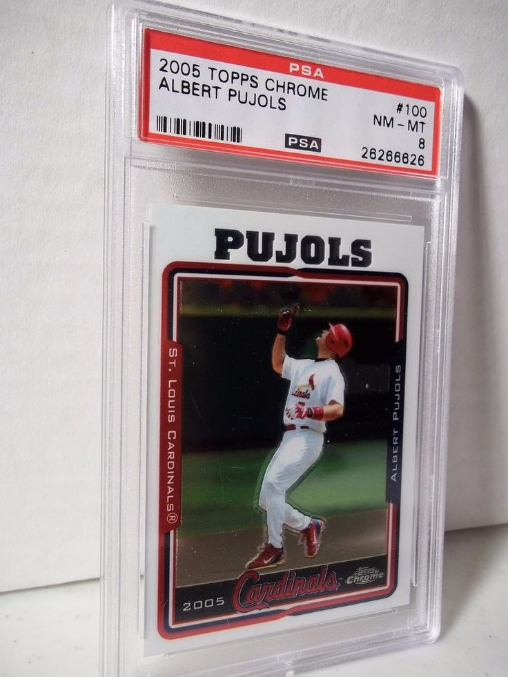 2005 Topps Chrome Albert Pujols PSA NM-MT 8 Baseball Card #100 MLB #StLouisCardinals