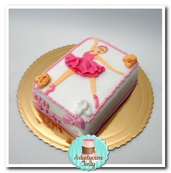 Tort na urodziny z baletnicą