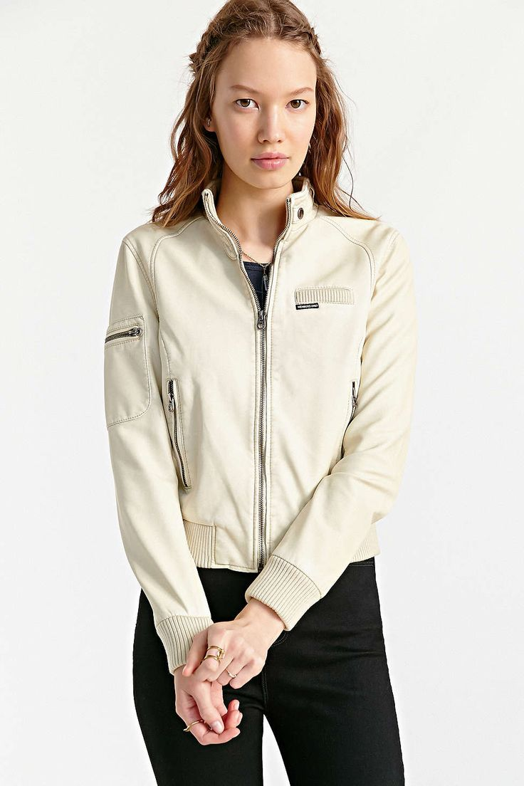 Leather jacket urban outfitters - Members Only Inconi Faux Leather Racer Jacket Urban Outfitters