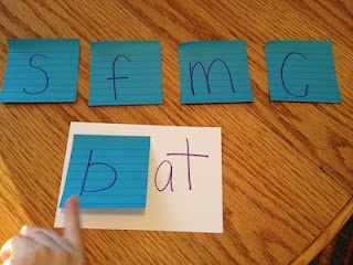 "Simple Little Home: ""Post It"" Word Family Practice - would go great while reading the book ""Rhyming Dust Bunnies"""