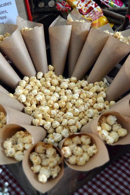 Caramel Popcorn Cones
