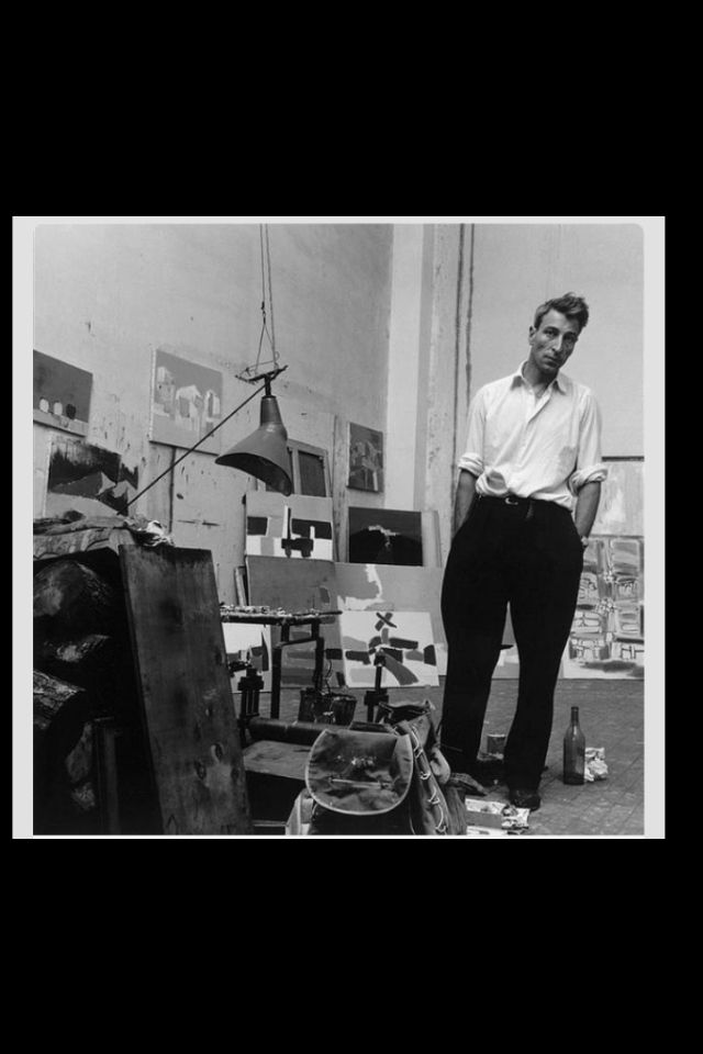 Nicolas de Stael in his studio Antibes, 1954 by Denise Colomb (*)