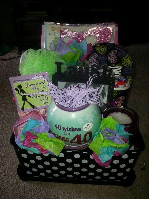 40th Birthday Gift Basket Kemoco Whimsy Gift Baskets
