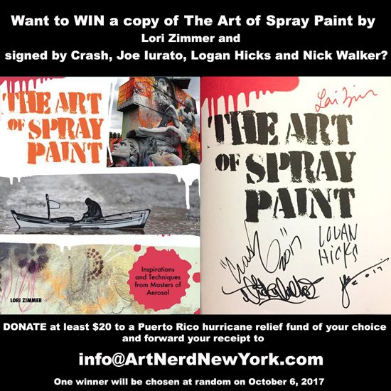 Win a copy of Art of Spray Paint signed by Logan Hicks, Crash, Nick Walker + Joe Iurato - http://art-nerd.com/newyork/win-a-copy-of-art-of-spray-paint-signed-by-logan-hicks-crash-nick-walker-joe-iurato/