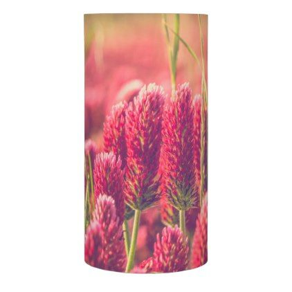 Crimson Clover Flowers LED Flameless Candle - photographer gifts business diy cyo personalize unique