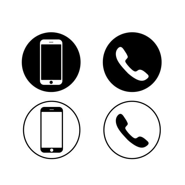 Black Mobile Phone And Phone Icons On A White Background Vector Phone Icons Mobile Icons Black Icons Png And Vector With Transparent Background For Free Down In 2020 Phone Icon Mobile