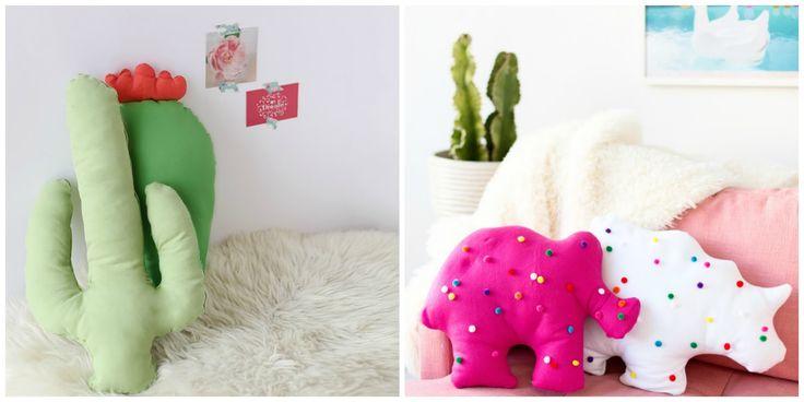 Anche voi amate tanto i cuscini colorati  e gli accessori di design moderni ed originali? Allora questi semplicissimi tutorial di cucito cre...