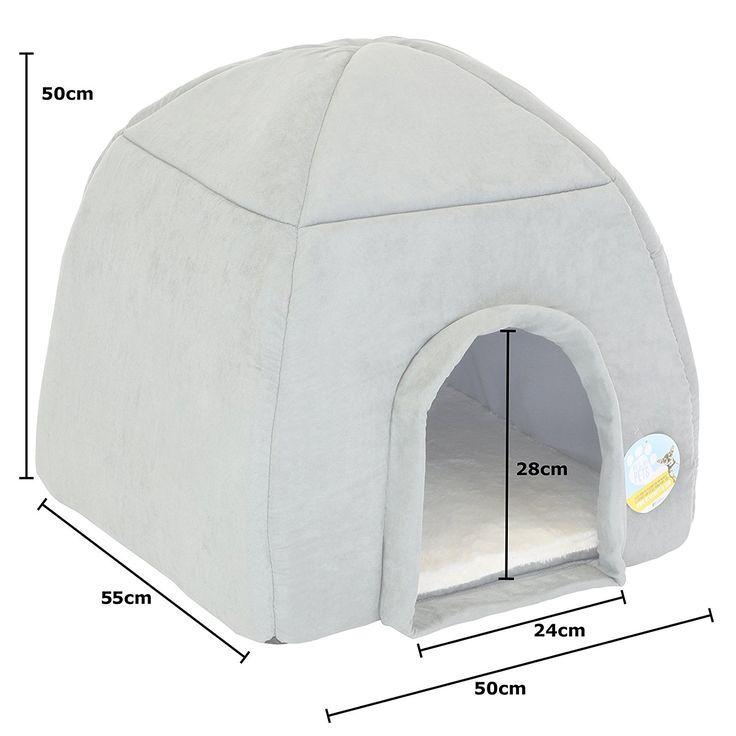 Me & My Large Grey Igloo Pet Bed: Amazon.co.uk: Pet Supplies