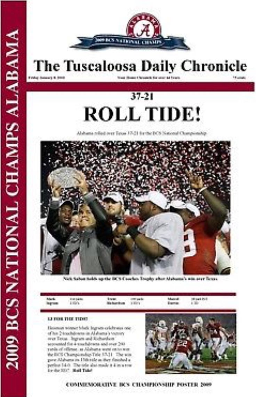 Alabama wins the 2009 BCS Championship over Texas 37 - 21 in Pasadena #Alabama #RollTide #BuiltByBama #Bama #BamaNation #CrimsonTide #RTR #Tide #RammerJammer #NationalChampions