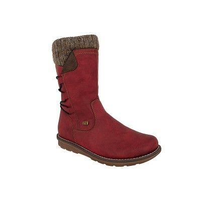 RIEKER R1094 - Γυναικείες Μπότες Δερμάτινες