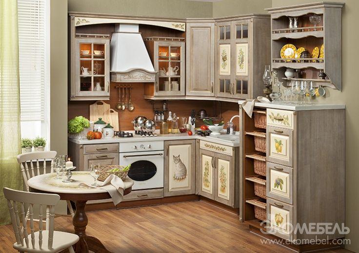 Кухня Прованс Шато от фабрики «Экомебель» - купить кухню в стиле Прованс в Москве
