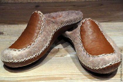 """Обувь ручной работы. Ярмарка Мастеров - ручная работа. Купить Валяные  тапочки """"Komfort"""" Унисекс. Handmade. Коричневый, обувь унисекс"""