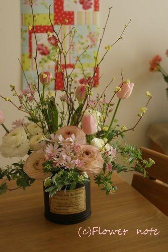 『【お誕生日】春の枝でお祝い』http://ameblo.jp/flower-note/entry-11486332633.html