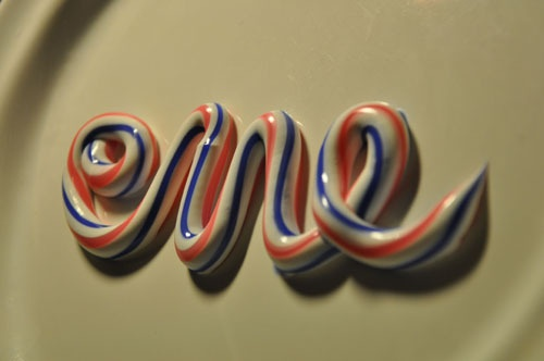 toothpaste lettering - fresh