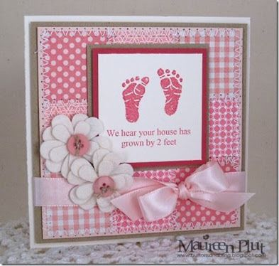 baby girl cards to make - Google Search