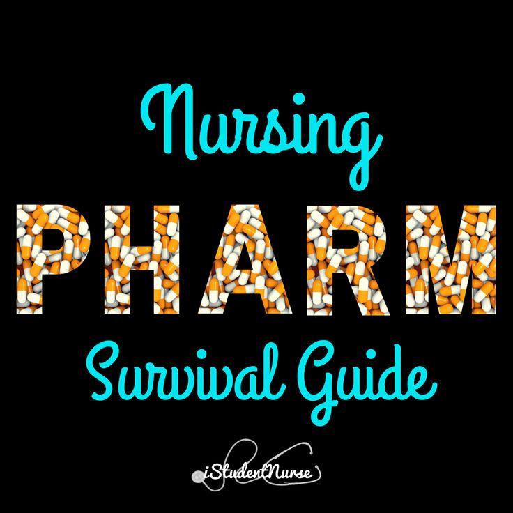 "Pharm Nursing Class Survival Guide for Students: Study tips, time management, learning methods, supplies, & ""Big Ideas"" @iStudentNurse #NurseHacks #NursingPharm"