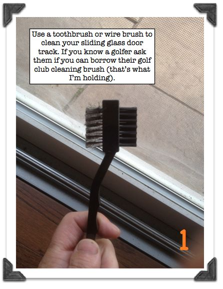 How To Repair A Stuck Sliding Glass Door Use A Toothbrush