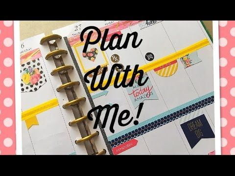 PLAN WITH ME! (big happy planner) Petals & Blooms Stickers! April 24-30 2017 - YouTube