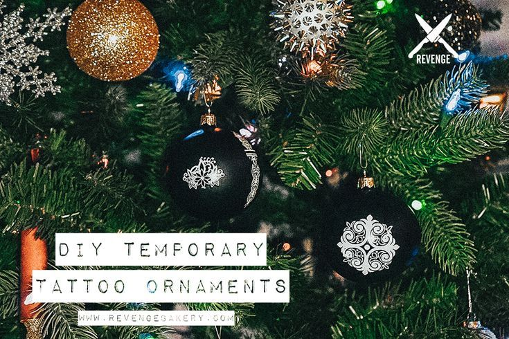 DIY Temporary Tattoo Christmas Ornaments,  #christmas #DIY #Ornaments #Tattoo #TemporarryTatt…